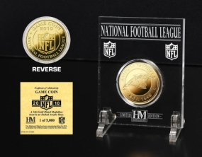 Carolina Panthers 24KT Gold Game Coin