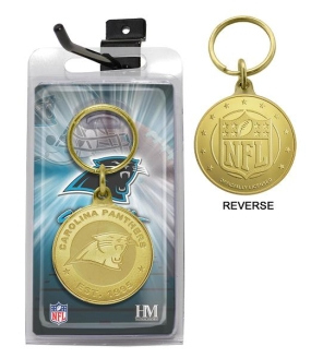 Carolina Panthers Bronze Bullion Keychain