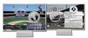 Comisky Park Silver Plate Coin Card