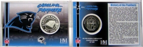 Carolina Panthers Team History Coin Card