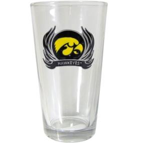 Iowa Flame Pint Glass