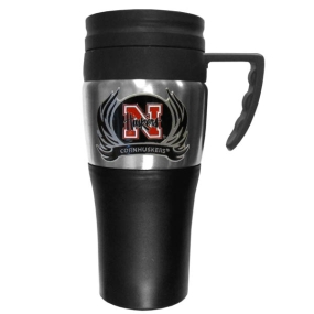 Nebraska Flame Travel Mug