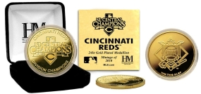 Cincinnati Reds 2010 N.L Central Division Champions 24KT Gold Coin