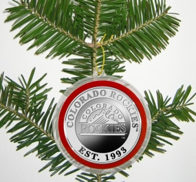 Colorado Rockies Silver Coin Ornament