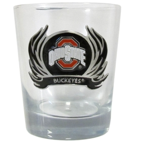Ohio St. Flame Rocks Glass
