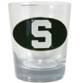 Michigan St. Rocks Glass