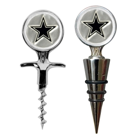 Dallas Cowboys Cork Screw and Wine Bottle Topper Set