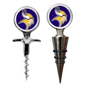 Minnesota Vikings Cork Screw and Wine Bottle Topper Set