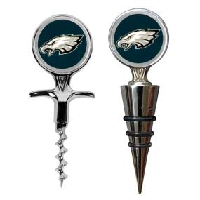 Philadelphia Eagles Cork Screw and Wine Bottle Topper Set