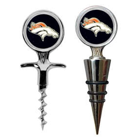 Denver Broncos Cork Screw and Wine Bottle Topper Set