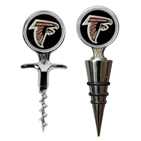 Atlanta Falcons Cork Screw and Wine Bottle Topper Set