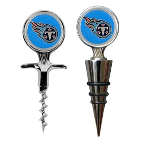 Tennessee Titans Cork Screw and Wine Bottle Topper Set