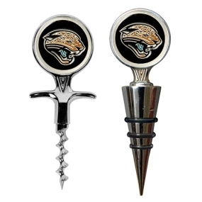 Jacksonville Jaguars Cork Screw and Wine Bottle Topper Set