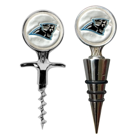 Carolina Panthers Cork Screw and Wine Bottle Topper Set