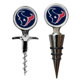Houston Texans Cork Screw and Wine Bottle Topper Set