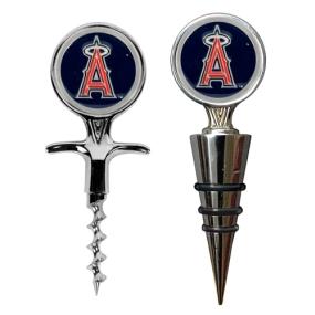 Anaheim Angels Cork Screw and Wine Bottle Topper Set