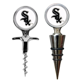 Chicago White Sox Cork Screw and Wine Bottle Topper Set
