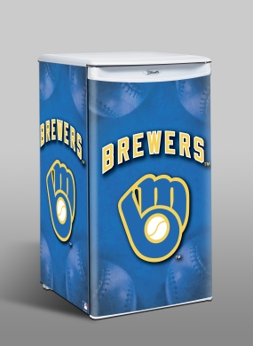 Milwaukee Brewers Counter Top Refrigerator
