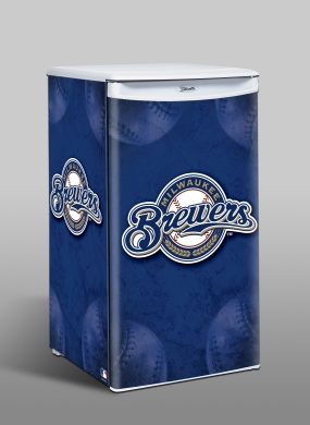 Milwaukee Brewers Counter Top Refrigerator