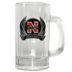 Nebraska Flame 16 oz Tankard