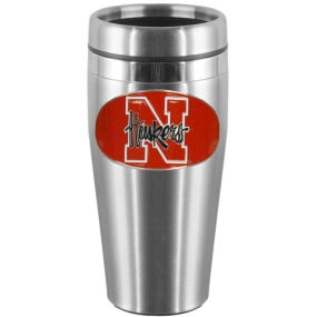 Nebraska Steel Travel Mug