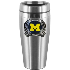 Michigan Flame Steel Travel Mug