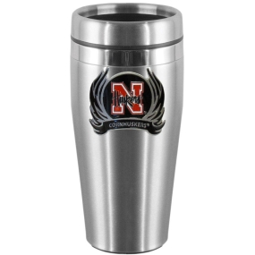 Nebraska Flame Steel Travel Mug