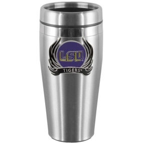 LSU Flame Steel Travel Mug