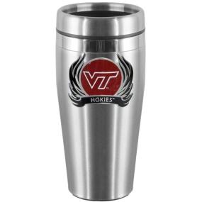Virginia Tech Flame Steel Travel Mug