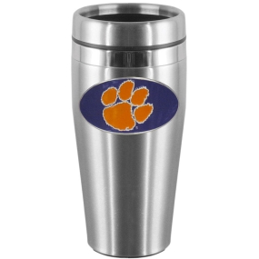 Clemson Steel Travel Mug