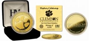 Clemson Tigers 24KT Gold Coin