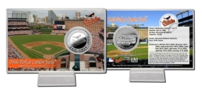 Camden Yards Silver Plate Coin Card
