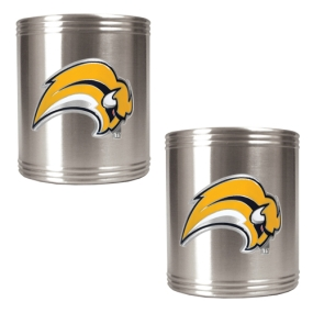 Buffalo Sabres 2pc Stainless Steel Can Holder Set- Primary Logo