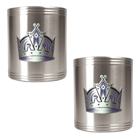 Los Angeles Kings 2pc Stainless Steel Can Holder Set- Primary Logo