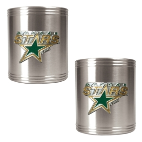 Dallas Stars 2pc Stainless Steel Can Holder Set- Primary Logo