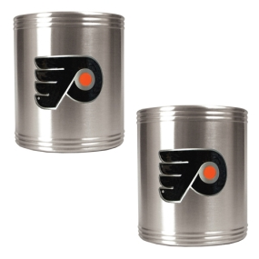 Philadelphia Flyers 2pc Stainless Steel Can Holder Set- Primary Logo
