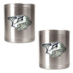 Nashville Predators 2pc Stainless Steel Can Holder Set- Primary Logo