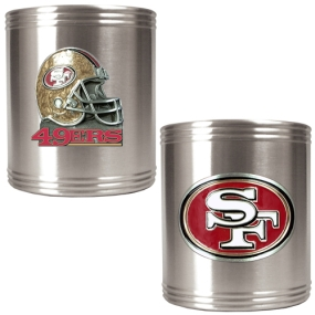 San Francisco 49ers 2pc Stainless Steel Can Holder Set