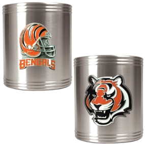 Cincinnati Bengals 2pc Stainless Steel Can Holder Set
