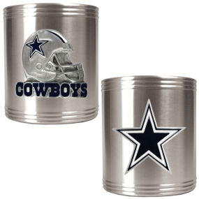 Dallas Cowboys 2pc Stainless Steel Can Holder Set