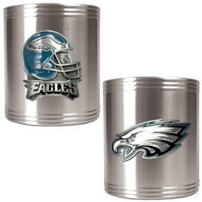 Philadelphia Eagles 2pc Stainless Steel Can Holder Set