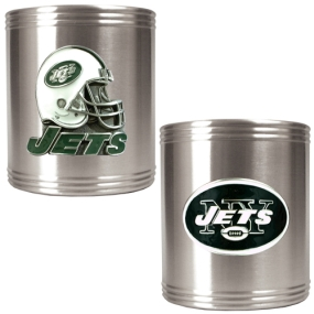 New York Jets 2pc Stainless Steel Can Holder Set
