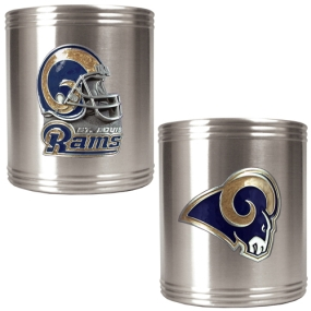 Saint Louis Rams 2pc Stainless Steel Can Holder Set