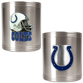 Indianapolis Colts 2pc Stainless Steel Can Holder Set