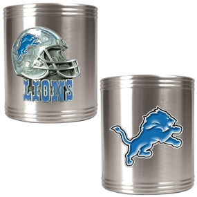 Detroit Lions 2pc Stainless Steel Can Holder Set