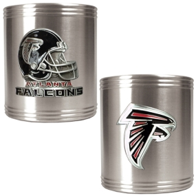 Atlanta Falcons 2pc Stainless Steel Can Holder Set