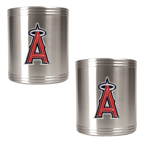Anaheim Angels 2pc Stainless Steel Can Holder Set- Primary Logo