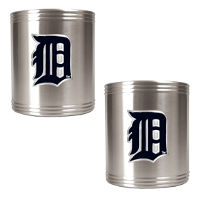 Detroit Tigers 2pc Stainless Steel Can Holder Set- Primary Logo