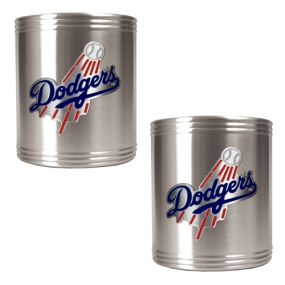 Los Angeles Dodgers 2pc Stainless Steel Can Holder Set- Primary Logo