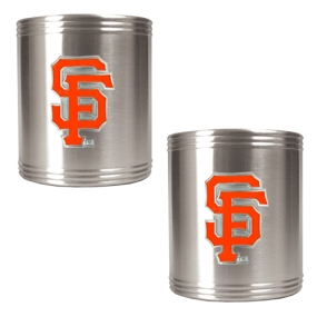 San Francisco Giants 2pc Stainless Steel Can Holder Set- Primary Logo